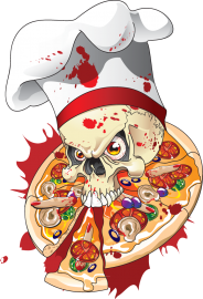 "Наклейка ""Creepy pizza"""