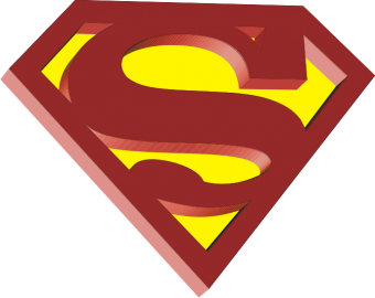 "Наклейка ""Superman logo"""