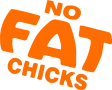 "Наклейка ""No fat Chicks"""