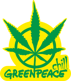 "Наклейка ""Greenpeace High Chill"""